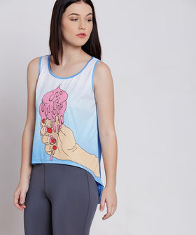 Yepme Nelly Ice Cream Sporty Top - Blue