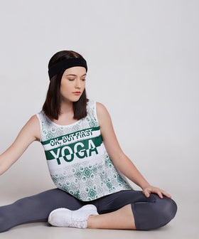 Yepme Nelly Yoga Sporty Top - Green & White