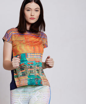 Yepme Agnes Distort Print Top - Orange