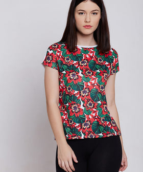 Yepme Agnes Floral Print Top - Red