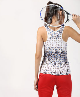 Yepme Birdie Scatter Geometric Tank Top - White