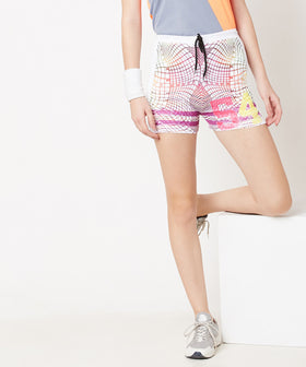 Yepme Hazel 54 Track Shorts - White & Yellow