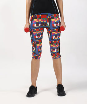 Yepme Georgia Abstract Capri-Black-Multi