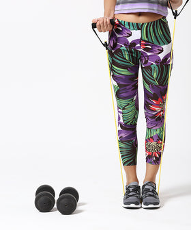 Yepme Margaret Leggings - Black & Green
