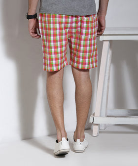 Yepme Checks Shorts - Multicolor