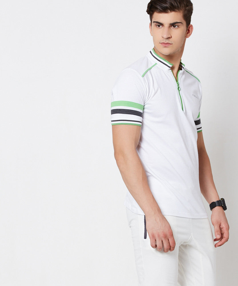 Yepme Brendon High Performance Polo Tee - White