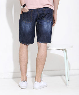 Yepme Douges Dark Wash Denim Shorts - Blue