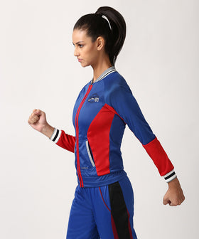 Yepme Kornelia Track Jacket - Blue & Red