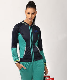 Yepme Kornelia Track Jacket - Blue & Green
