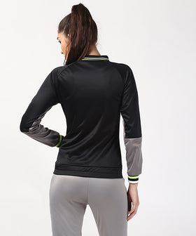 Yepme Kornelia Track Jacket - Black & Grey