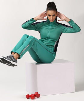 Yepme Sue Track Jacket - Green & Blue