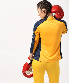 Yepme Sue Track Jacket - Yellow & Blue