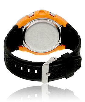 Yepme Men's Analog Digital Watch - Black/Orange