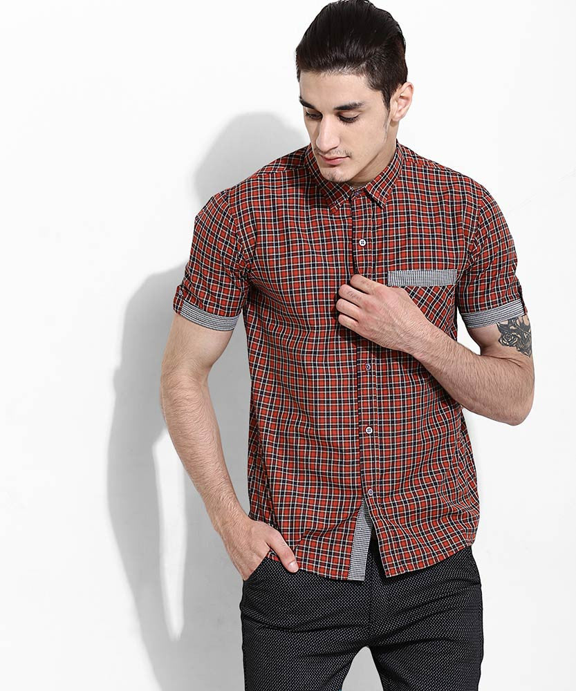 Yepme Francis Slim Fit Shirt - Red