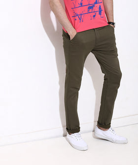 Yepme Alvin Printed Pants - Brown
