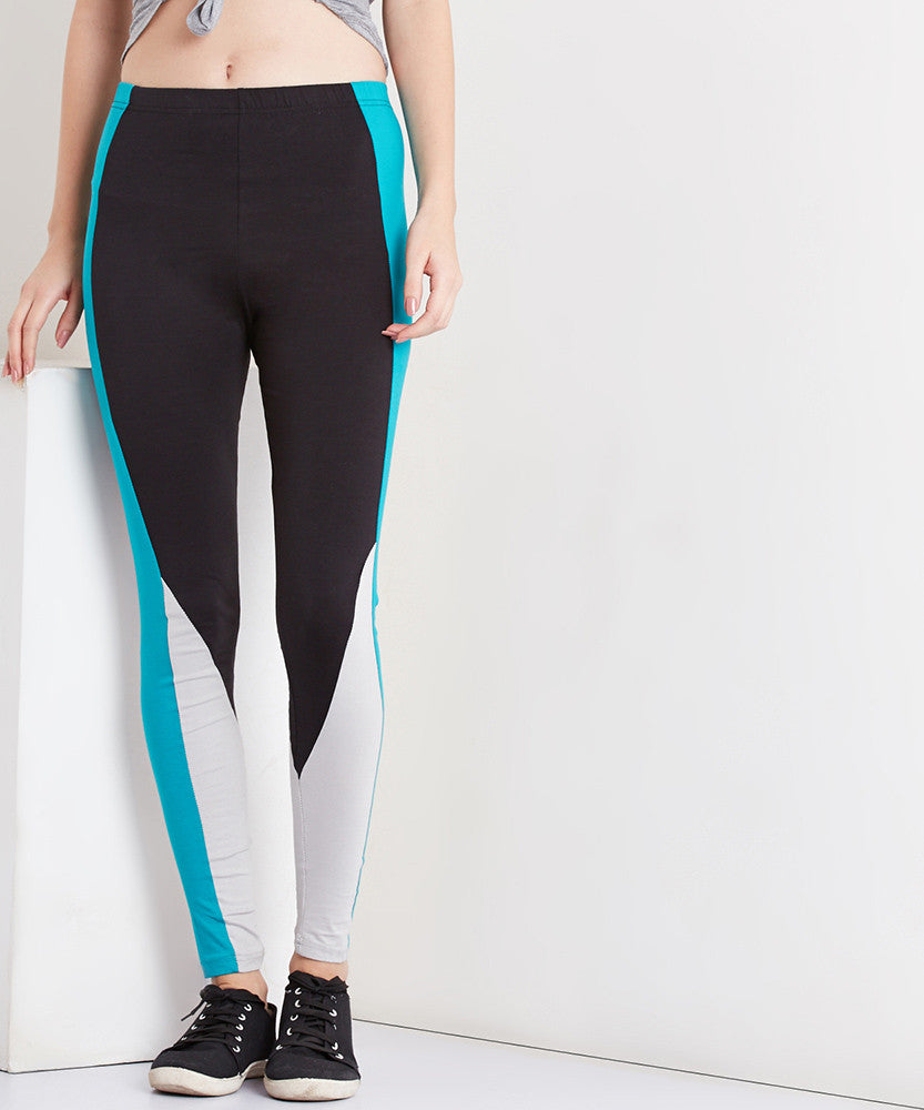 Yepme Demmi Leggings - Black & Green