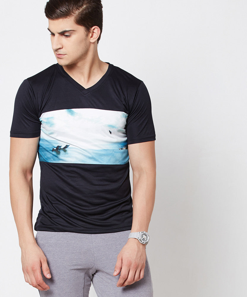 Yepme Wendell  Graphic Tee - Blue