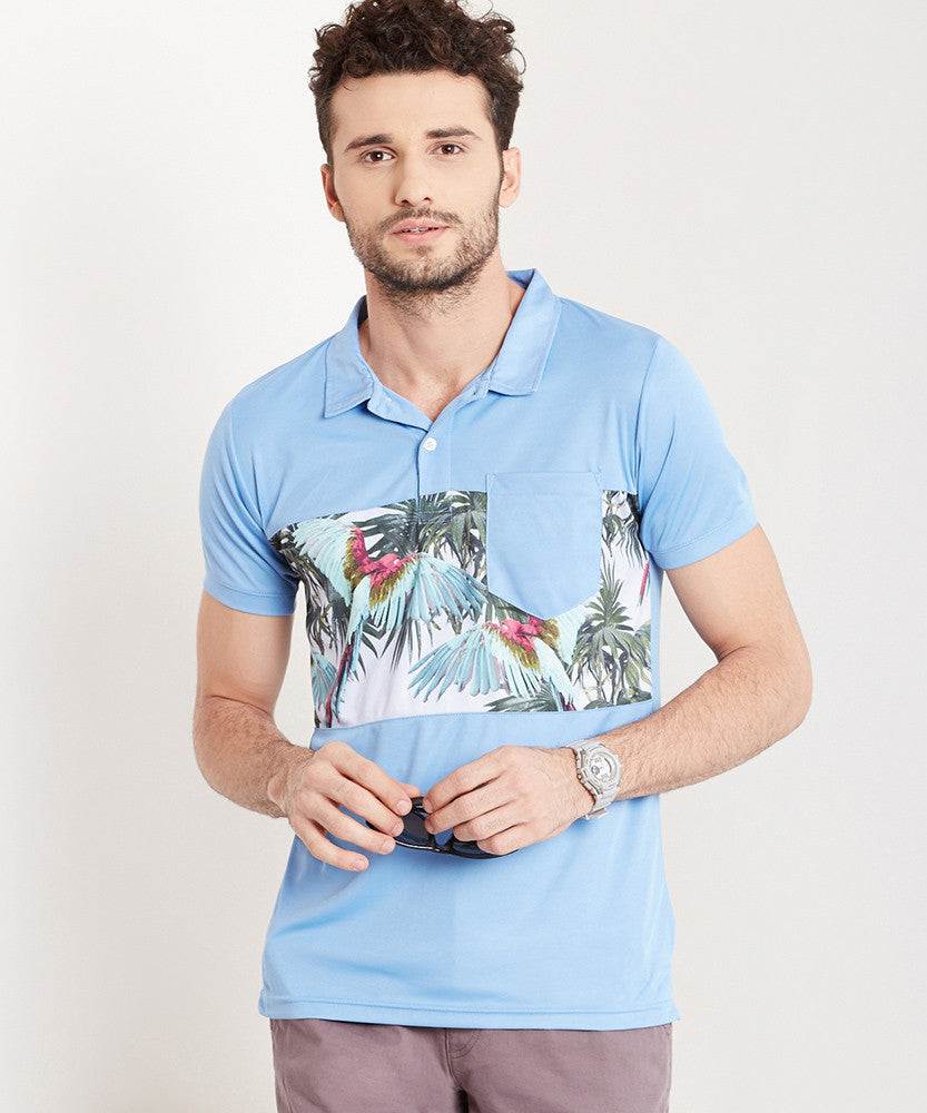 Yepme Louis Polo Tee - Blue
