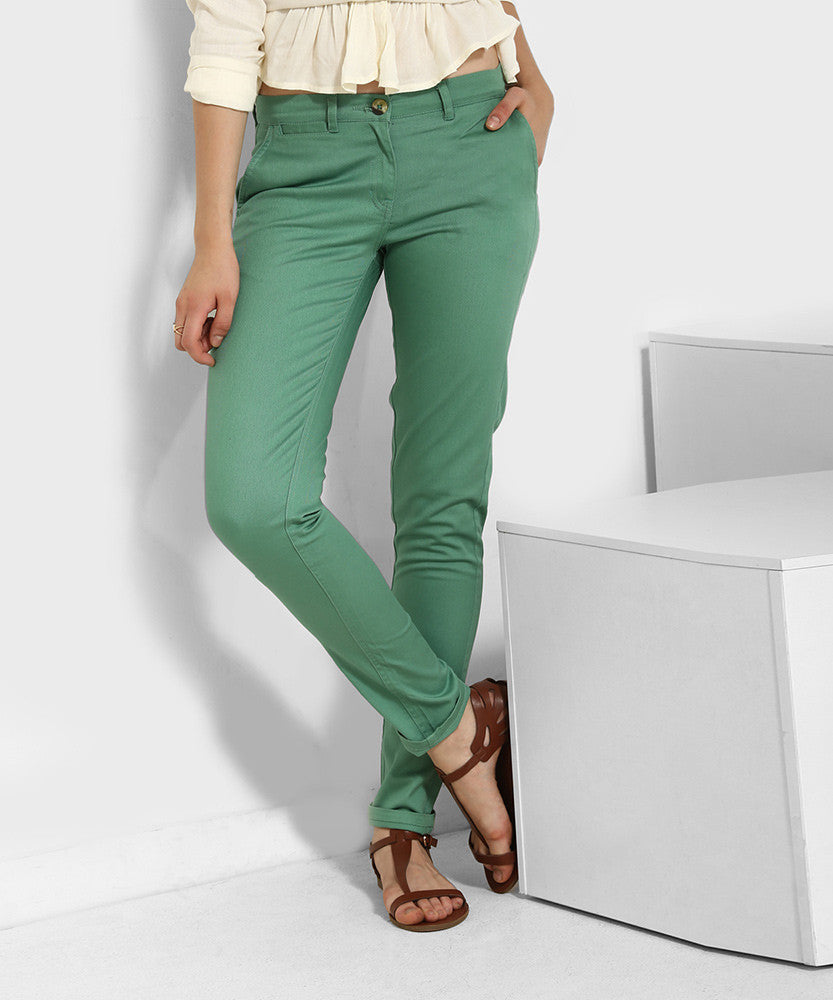 Yepme Rowee Colored Pants - Green