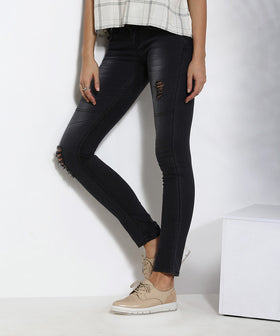 Yepme Distressed Denim - Black