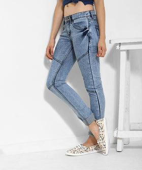Yepme Jezebel Light Wash Denim - Blue