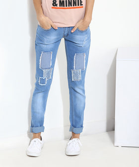 Yepme Junia Light Wash Denim - Blue