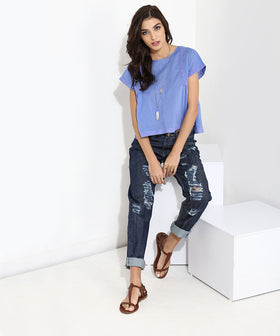 Yepme Malisha Boyfriend Denim - Blue