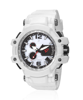 Yepme Men's Analog Digital Watch - White