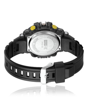 Yepme Men's Analog Digital Watch - Black/Yellow