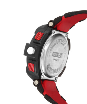 Yepme Men's Analog Digital Watch - Black/Red