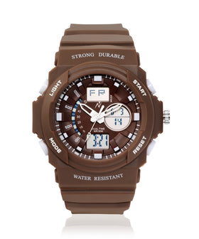 Yepme Men's Analog Digital Watch - Brown