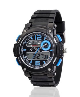 Yepme Men's Analog Digital Watch - Black/Blue