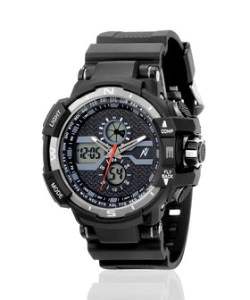Yepme Men's Analog Digital Watch - Black/Grey