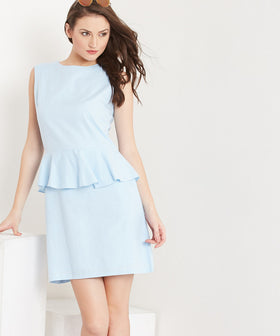 Yepme Jodie Linen Dress - Blue