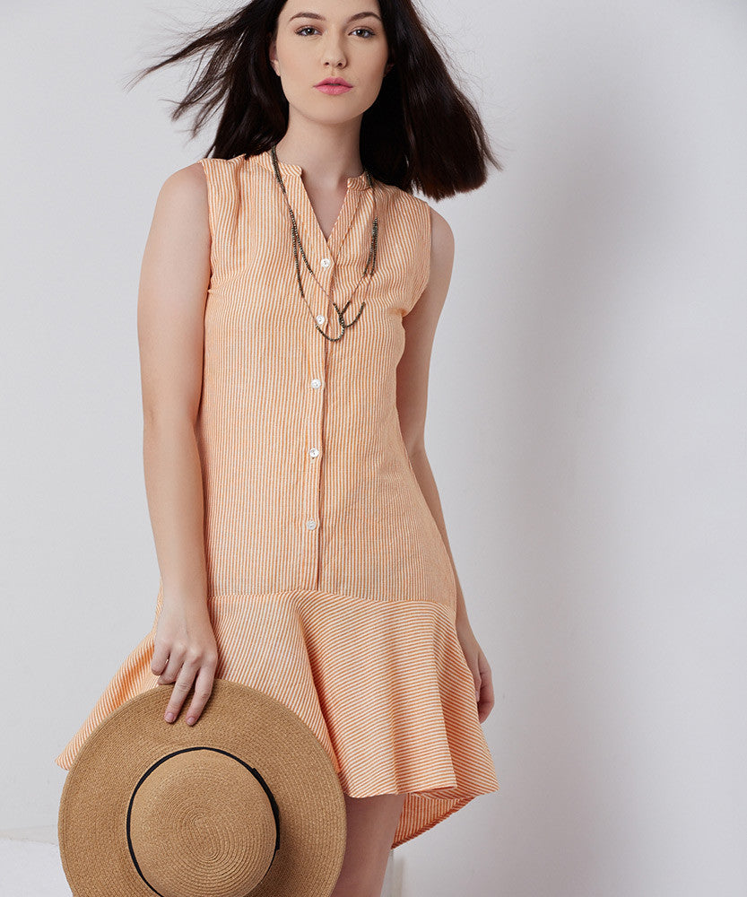 Yepme Zoe Linen Dress - Orange