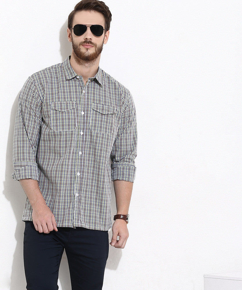 Yepme Stewart Check Shirt - Blue