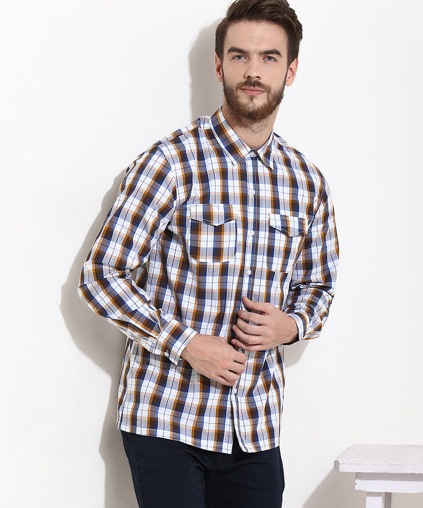 Yepme Stewart Check Shirt - Brown