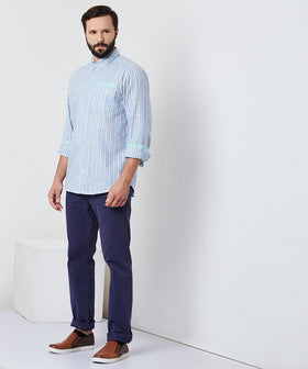 Yepme William Linen Shirt - Blue