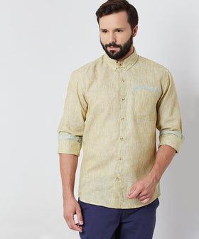 Yepme William Linen Shirt - Yellow
