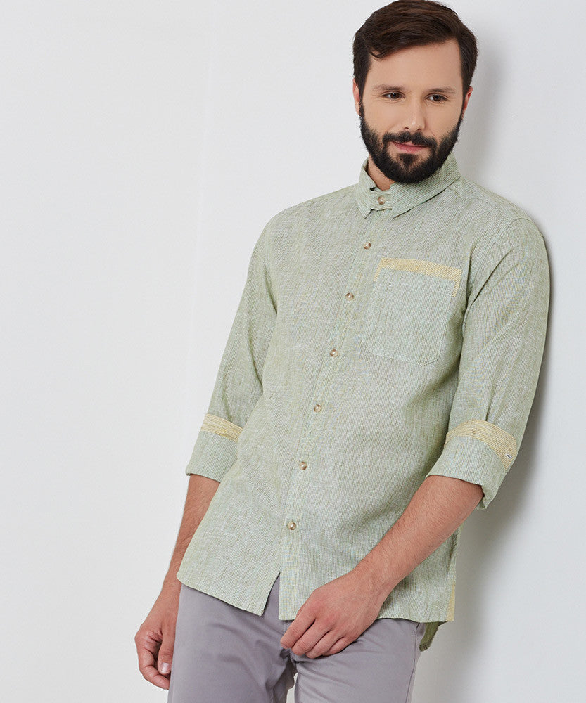 Yepme William Linen Shirt - Green