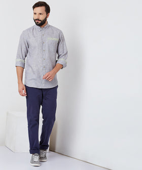 Yepme William Linen Shirt - Grey