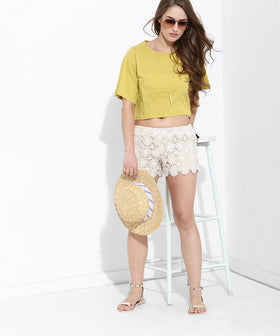 Yepme Estella Shorts - White