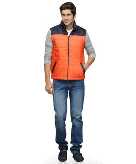 Yepme Wesley Bomber Jacket - Orange & Navy
