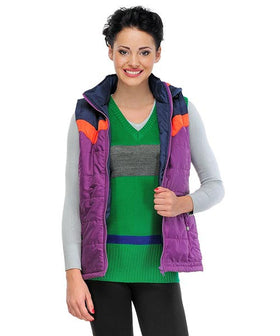 Yepme Jenna Hood Bomber Jacket - Purple & Navy
