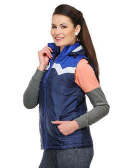 Yepme Jenna Bomber Jacket - Navy Blue & White