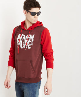 Yepme Mark Hooded Sweatshirt - Maroon