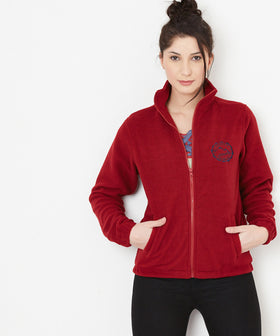 Yepme Stephey Fleece Jacket - Maroon