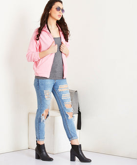 Yepme Stephey Fleece Jacket - Pink