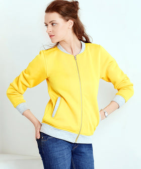 Yepme Kylie Baseball SweatJacket - Yellow