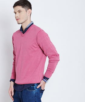 Yepme Carlos Solid Sweater - Pink